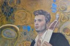 Man with his viola da gamba